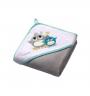 Velour Hooded Towel - Grey - 100x100cm
